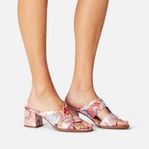 Justfab block heeled mule sandals